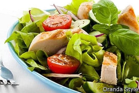 Resipi KURUS: Cendawan putih dan salad ayam