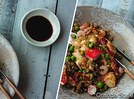 Resipi KURUS: Quinoa dan salad makanan laut yang dibakar