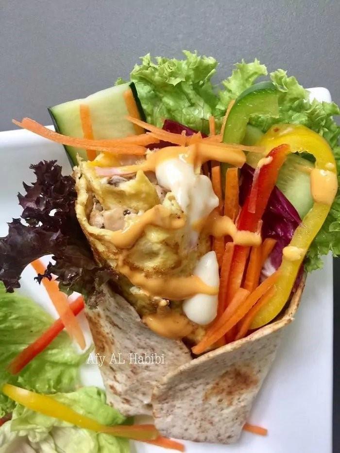 Resepi KURUS: Diet Wrap Omelette Rolls