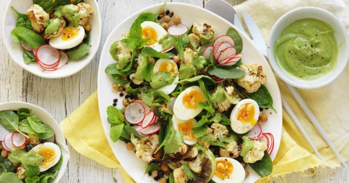 Resepi KURUS:  Salad Telur Pudina