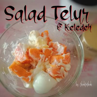 Resepi KURUS:Salad Telur & Keledek