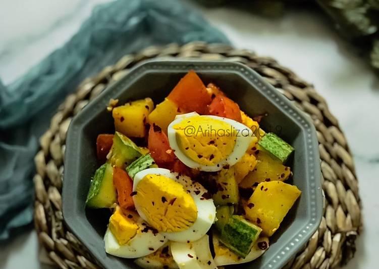 Resepi KURUS:Salad Telur dan Kentang
