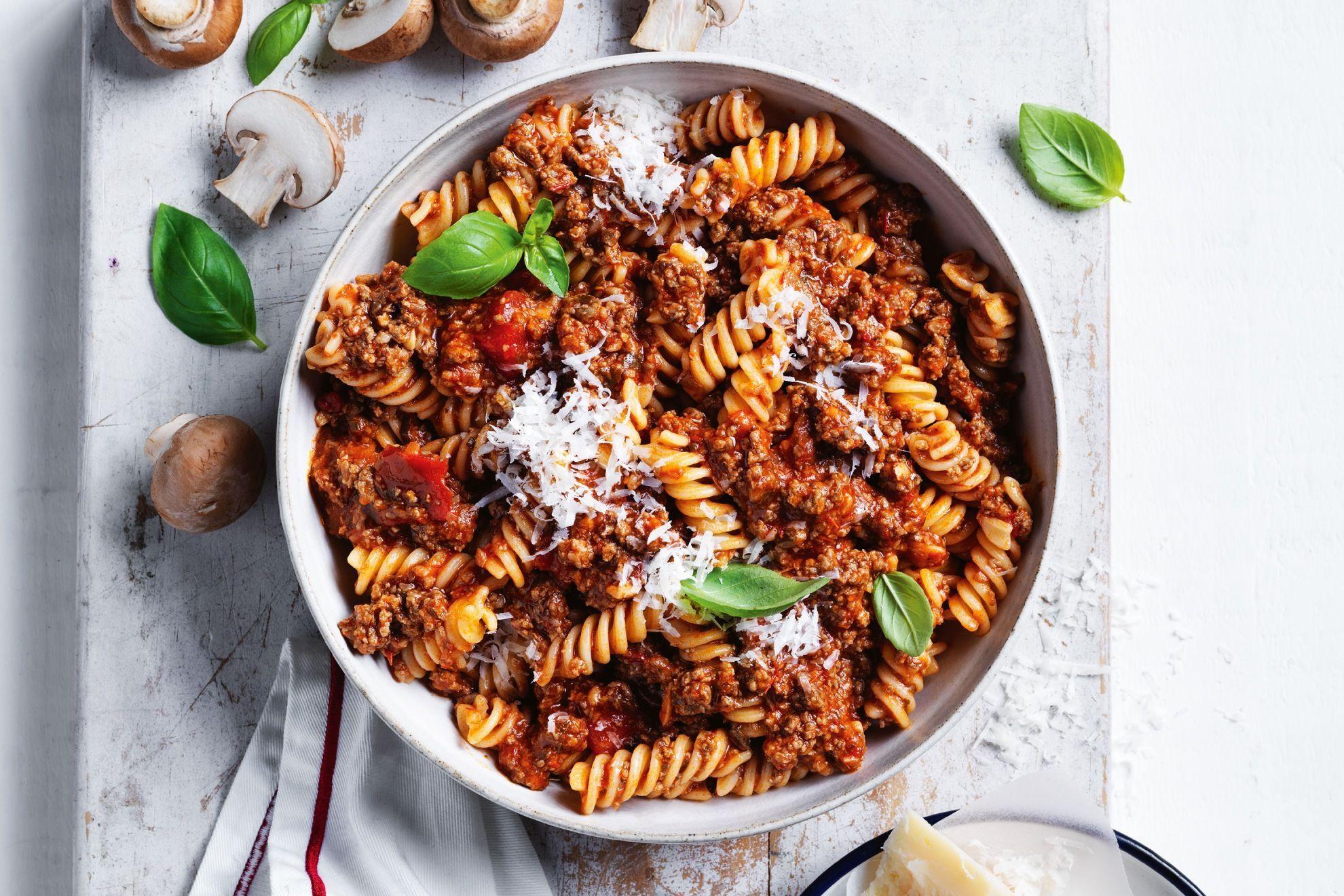 Resepi KURUS: Spiral Fettuccine Bolognese